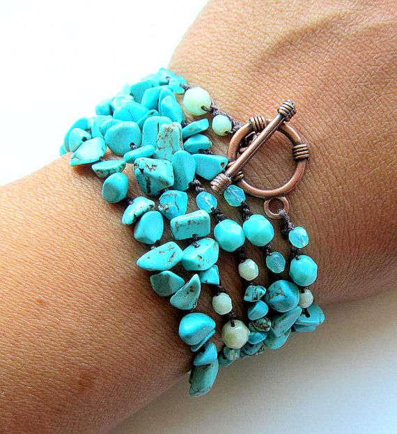 Crochet wrap bracelet / necklace beaded I remember by CoffyCrochet