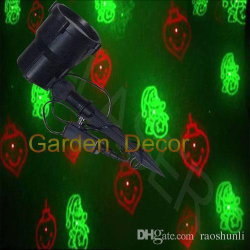 Redgreen moving laser Christmas light eight patterns garden outdoor