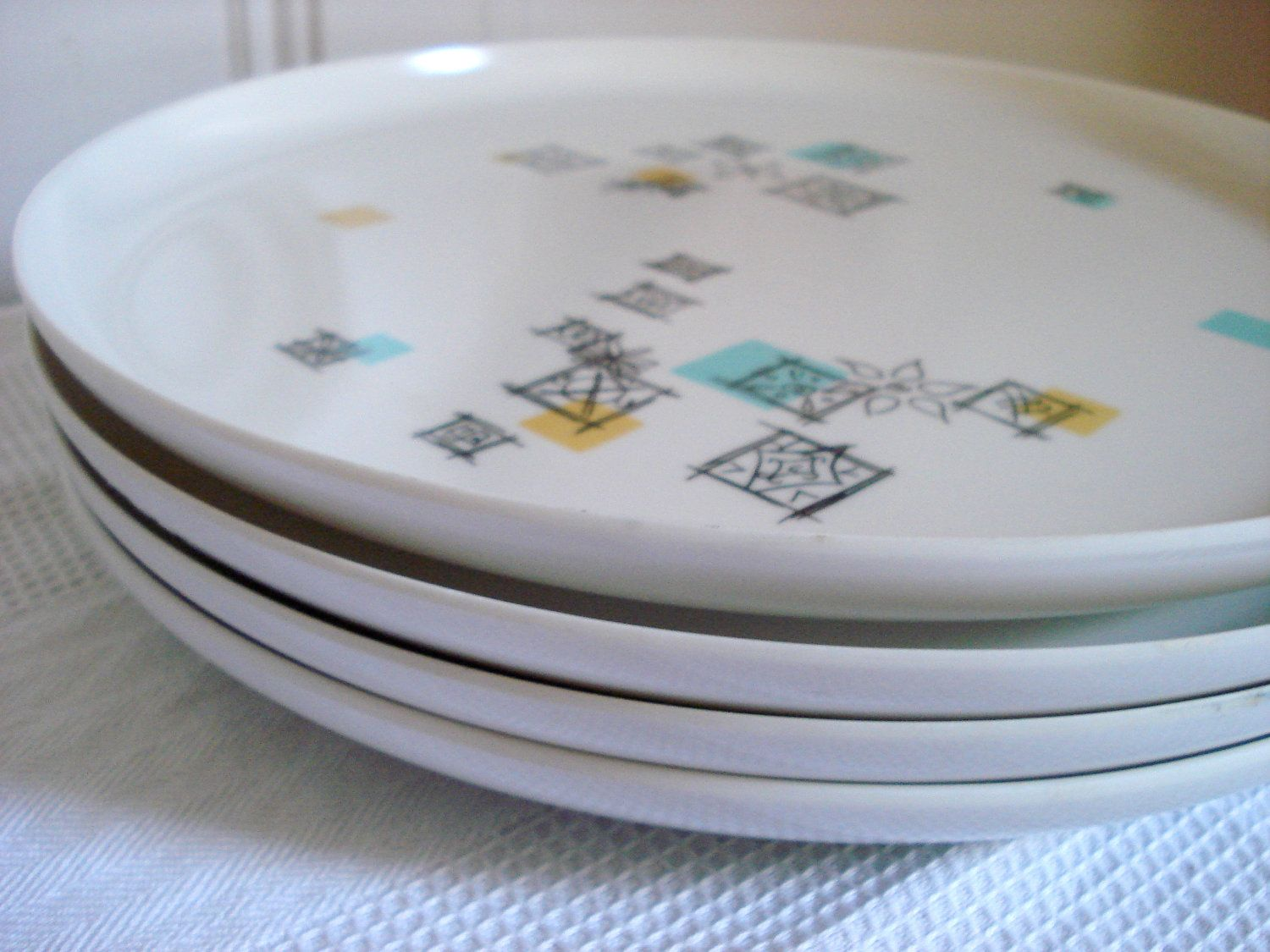 Vintage Melmac Florence Prolon Plates Set of by BedGlassandBeyond & pattern. | Merry Melmac | Pinterest | Florence 1950s and George nelson