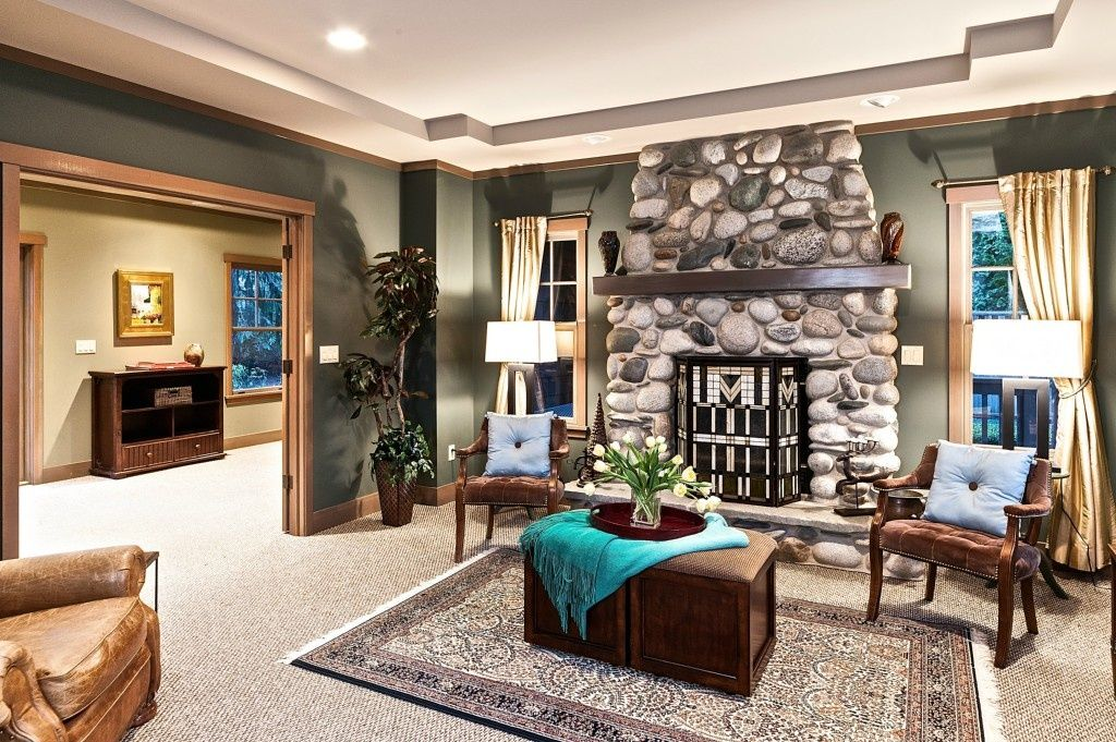 Crown Molding Designs Living Rooms Adorable Eclectic Living Room With Eldorado Stone River Rock  Rio Grande Design Ideas