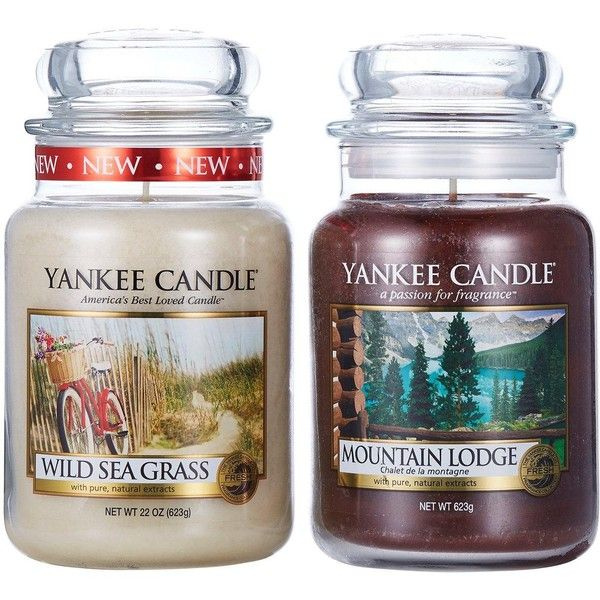 Yankee Candle Large Jar Twin Pack &Ndash; Ocean Mountain (693.600 IDR) ❤ liked on Polyvore featuring home, home decor, candles & candleholders, coastal home decor, sea home decor, ocean home decor and yankee candle