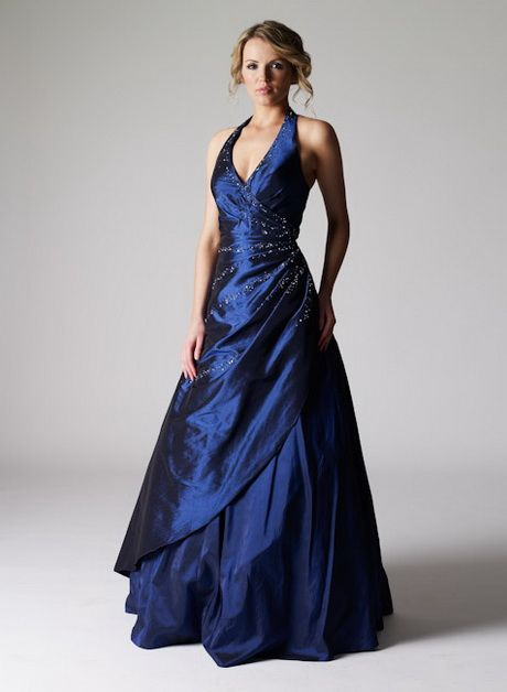 Abendkleider lang dunkelblau | Ballkleid, Abendkleid, Kleider
