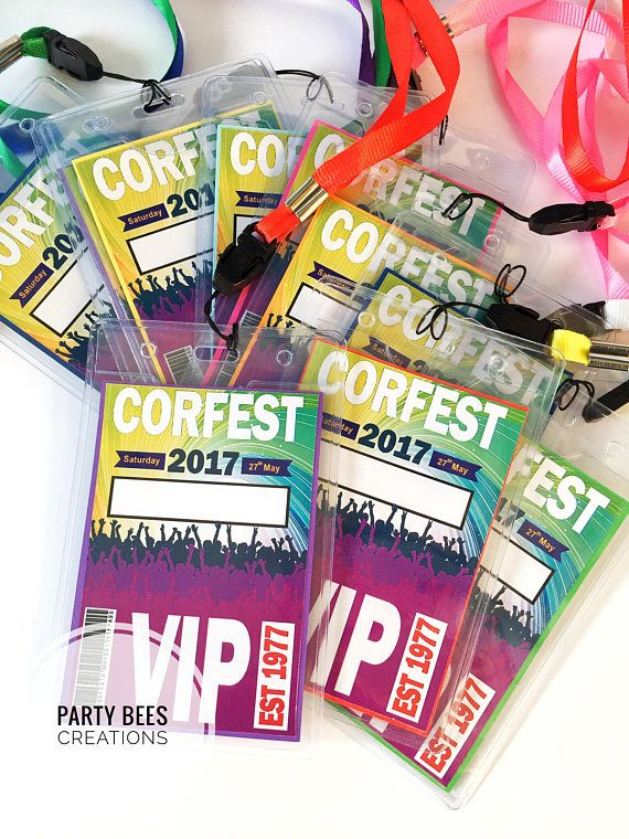 Festival lanyard rave birthday party celebration VIP Pass ticket