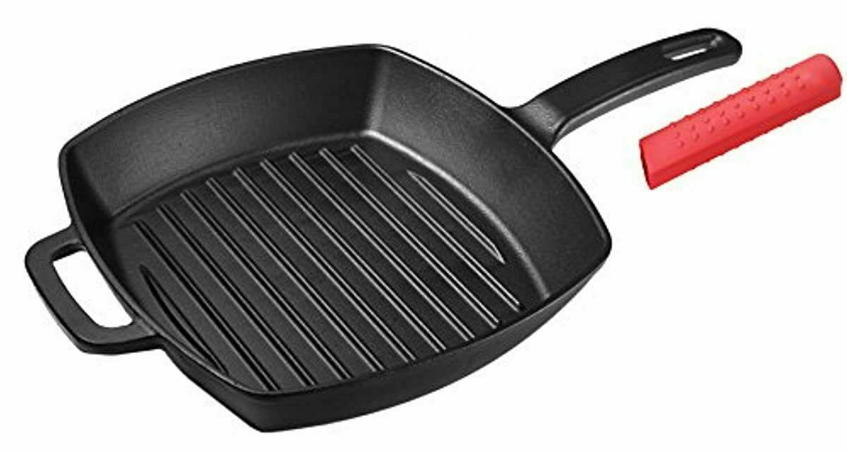Cast Iron Grill Pan 10 25 Inch Square Cast Iron Skillet With Silicon Grill Pans Ideas Of Grill Pans Grillpa In 2020 Cast Iron Grill Pan Grill Pan Cast Iron Grill