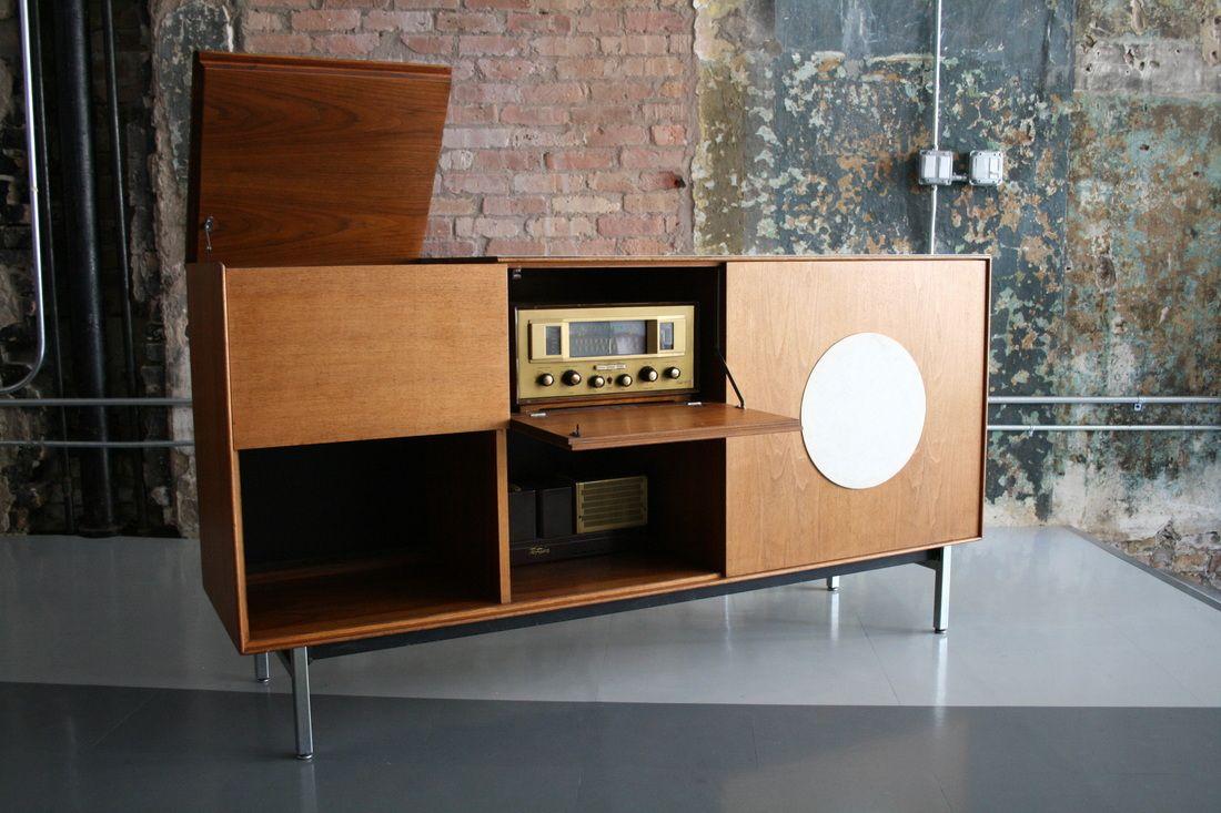 Modern Hifi mid century modern freak 1950s teak hi fi cabinet design