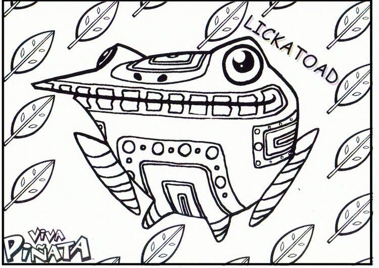 Lickatoad Viva Pinata Coloring Sheet Coloring Sheets Coloring Pages For Kids Coloring Pictures For Kids
