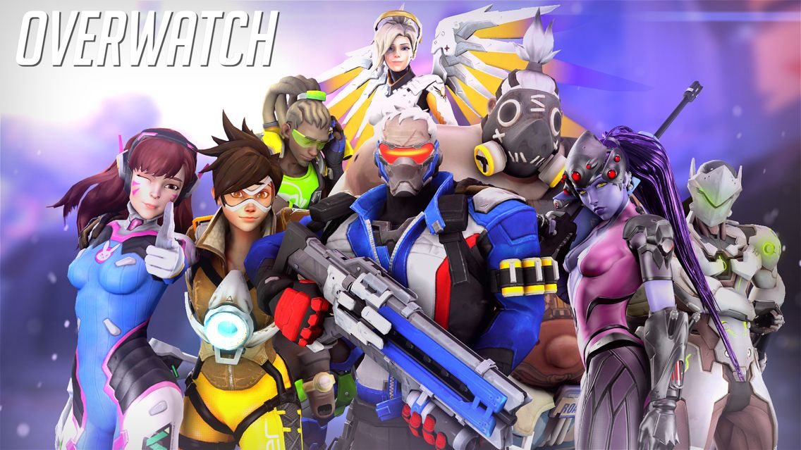 Overwatch fanart  Soldier 76, Tracer, RoadHog, WidowMaker