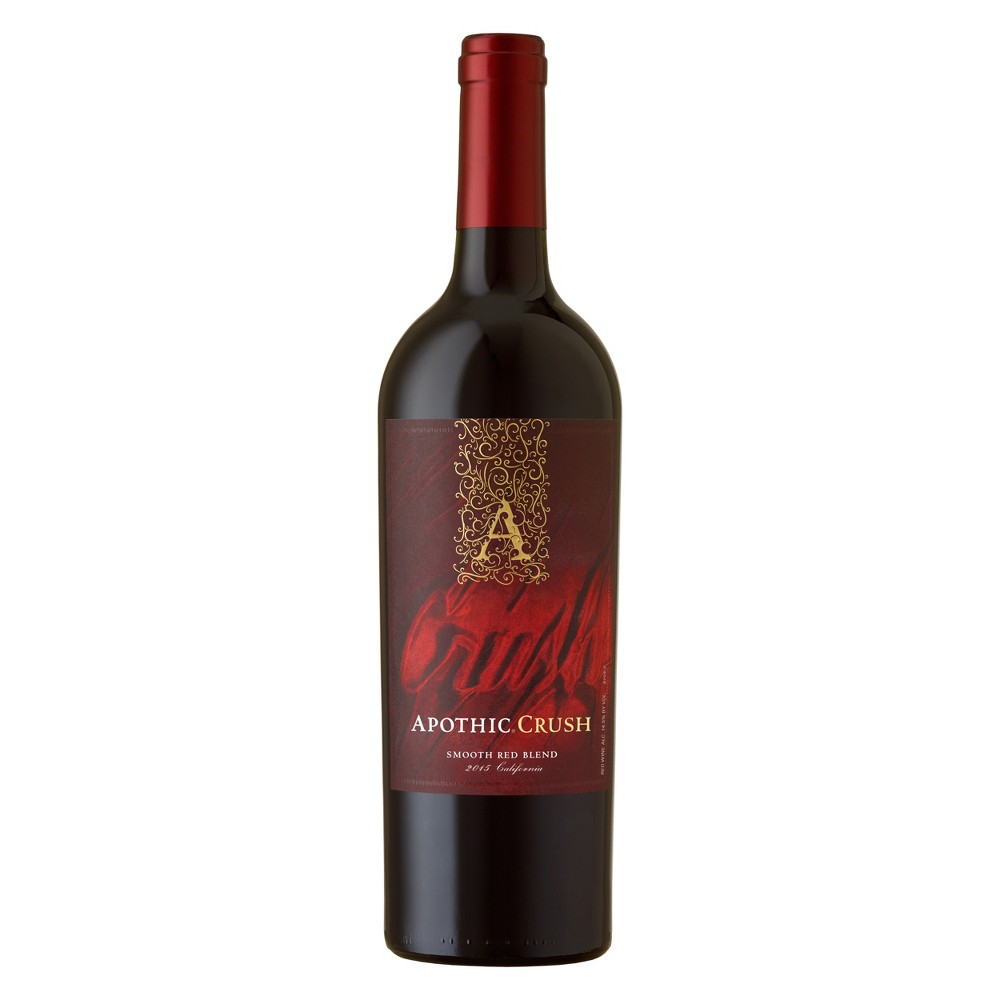 Apothic Crush Smooth Red Blend Wine 750ml Bottle Red Blend Wine Red Wine Wine