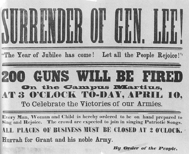 civil war newspaper articles 1865