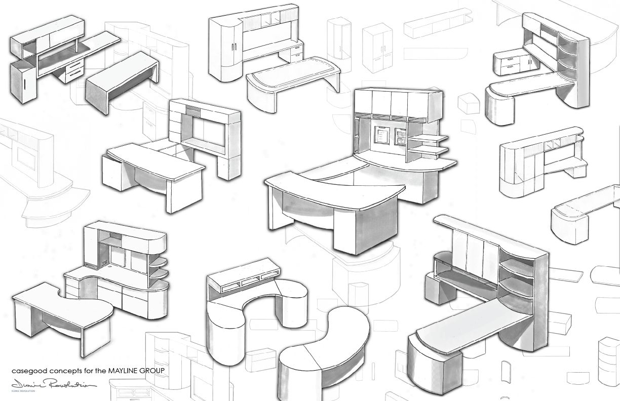 Contract Furniture Work By Zoe Heidorn Sketch For