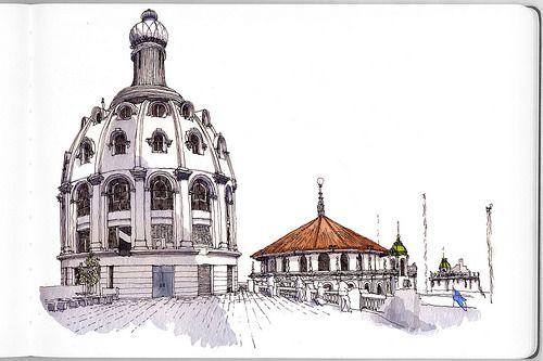 Edificio Bencich Bencich Building Dibujo Urbano Bocetos