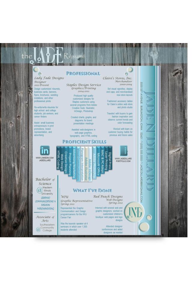 Personalized resume by LADYjadeDESIGNS on Etsy The Jade template in