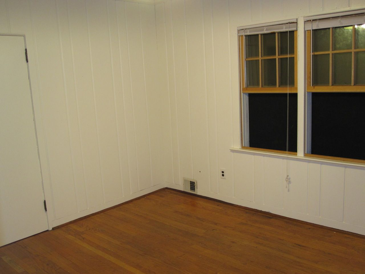 Painted paneling office transformation painted Wood paneling transformation