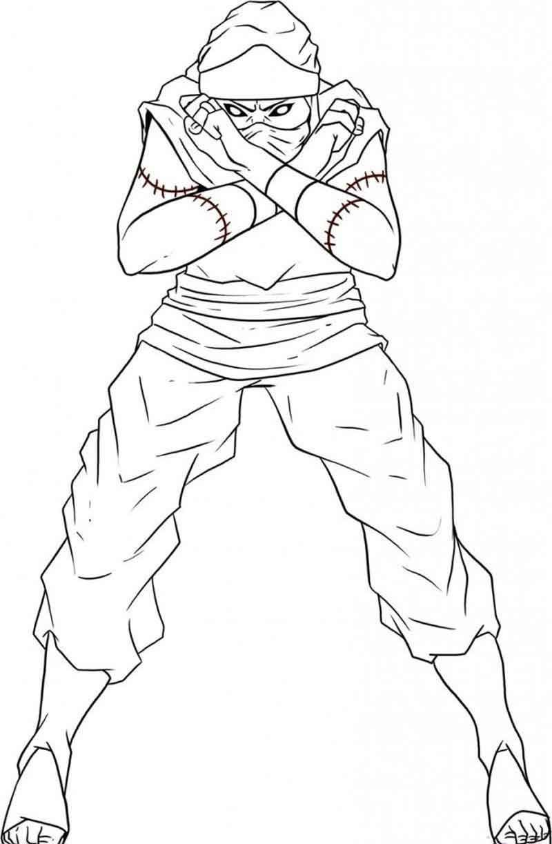 naruto characters coloring pages from