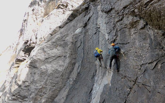 Klettersteig Engelberg : Fürenwand klettersteig engelberg via ferrata