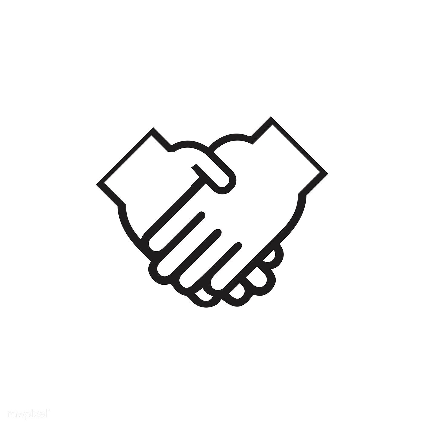 Shaking Hands Icon Vector Free Image By Rawpixel Com Hands Icon Vector Free Hand Logo