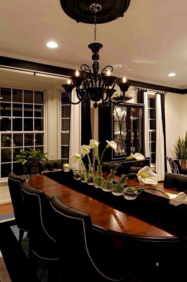 Black Ceiling Medallion Custom ⭐️black Ceiling Medallion And Black Chandelier  House  Pinterest Inspiration Design