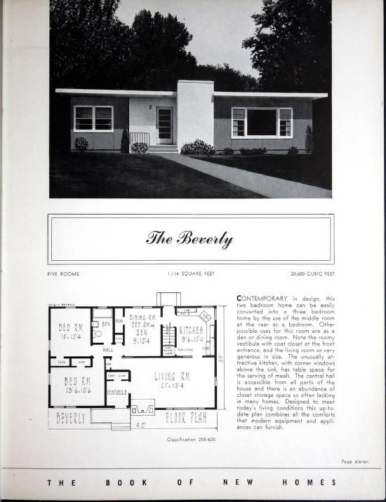 The Book of New Homes: Designs and Floor Plans. The Beverly 2-3 Bed ...