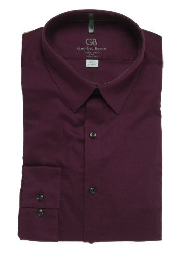 7a4e8adca Geoffrey Beene Men's Solid Slim Fit Comfort Stretch Dress Shirt Port 17  36/37 Geoffrey