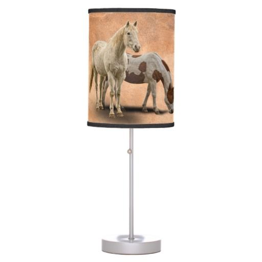 HORSES DESK LAMP  15% off #zazzle www.leatherwooddesign.com