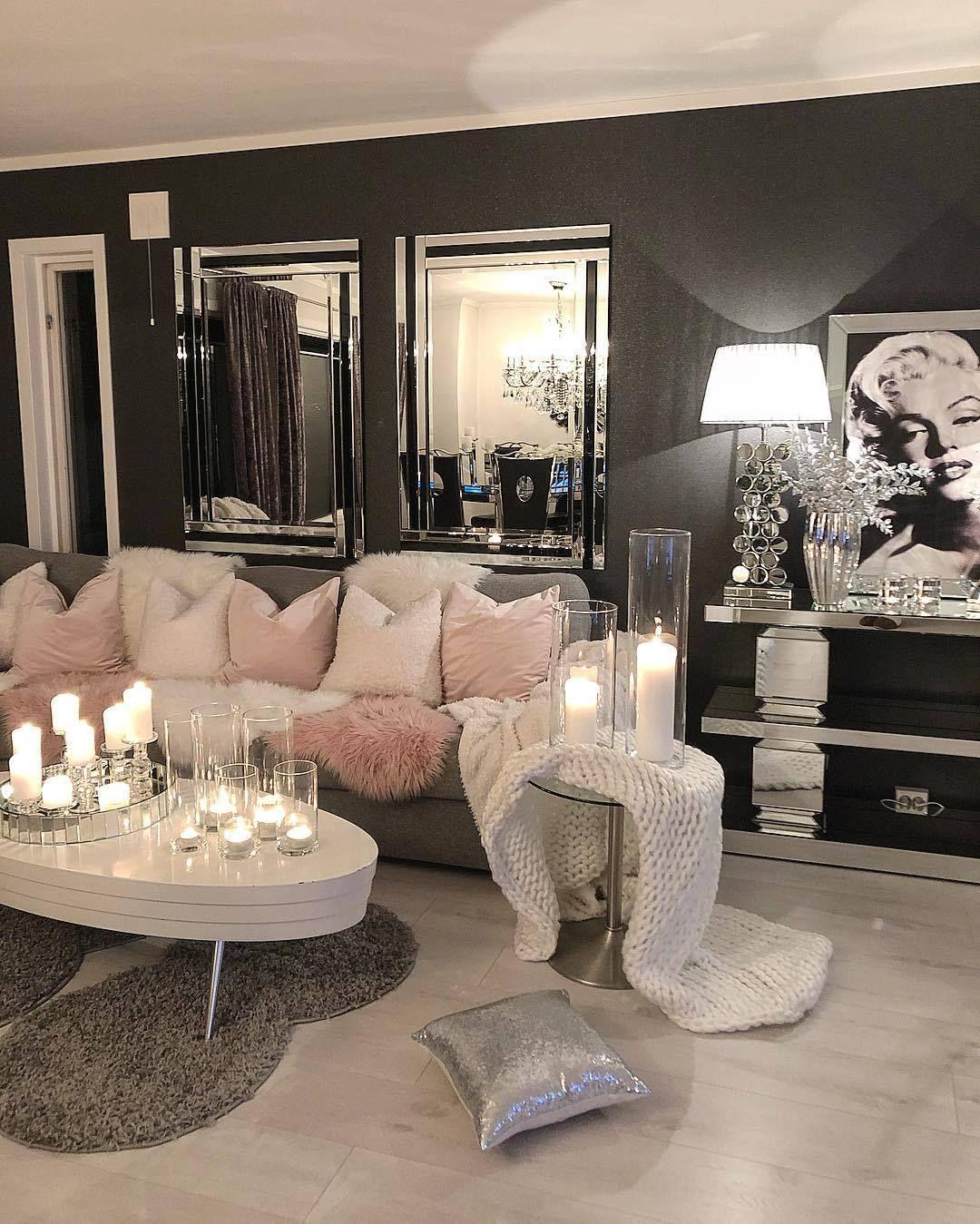 Modern Glam Living Room Decorating Ideas 19: Glamour Living Room, Luxury Living Room, Home
