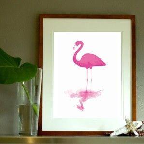 Flamingo in Magenta PRINT
