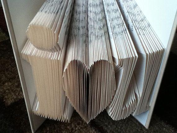 i love you recycled books folded book wedding girlfriend