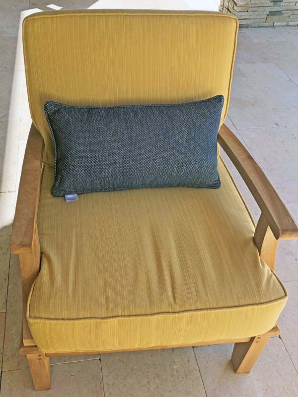 sunbrella replacement cushions and pillows upgrade teak seating in