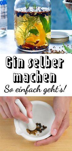 Gin selber machen - so einfach geht's | LECKER #gincocktailrecipes