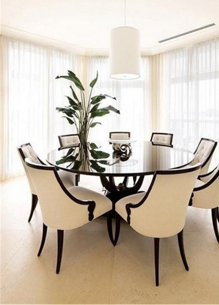 68 Awesome Round Dinning Table Design Ideas Glass Dining Room