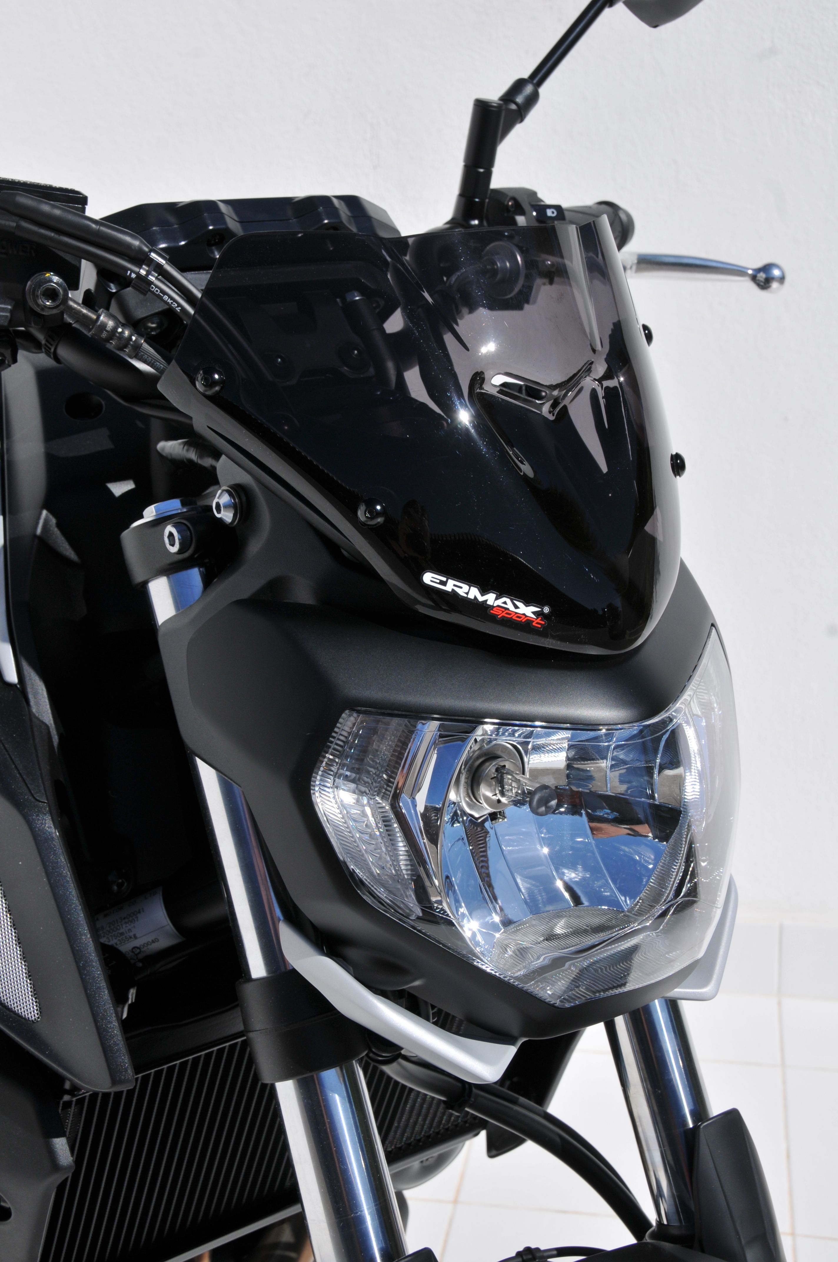Hypersport Screen 18cm Light Black Yamaha Mt07 Motorcycle Accessories Yamaha