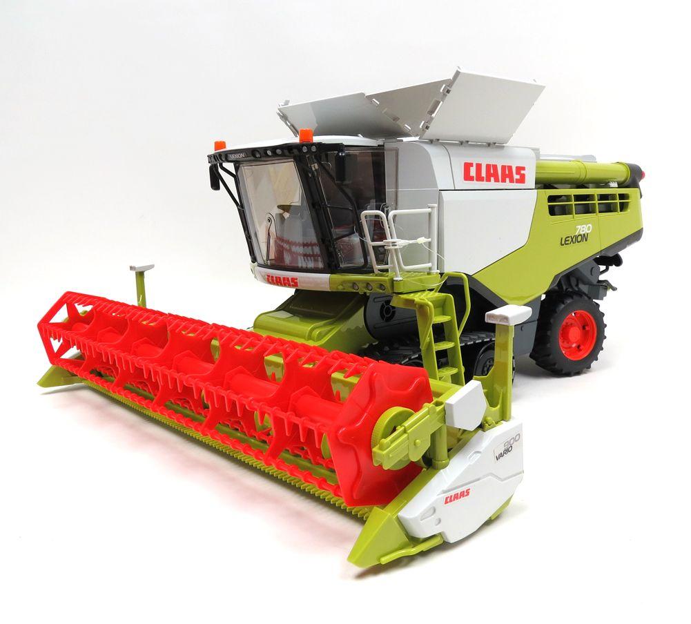 1 16 Claas Lexion 780 Terra Trac Combine With Header Transporter Farm Toys Cool Toys Dump Trucks