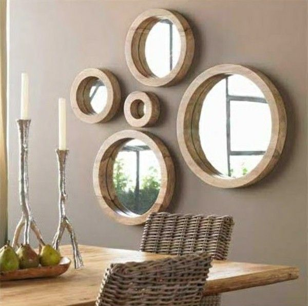 Wall mirror  round and elegant Nice aesthetic addition to the wall Room Decorating