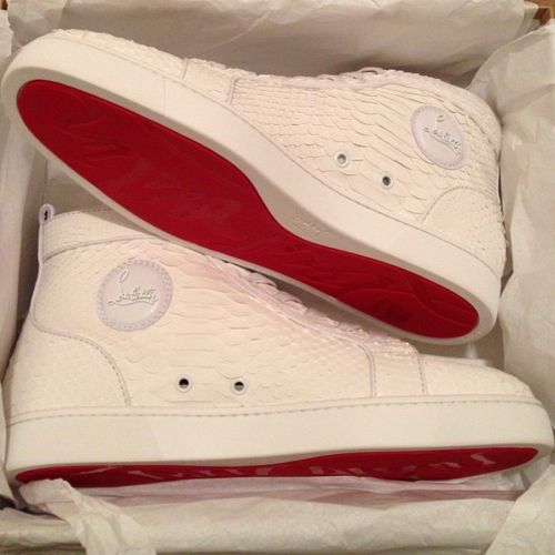 White python louboutin mens sneakers. I know its for men 8848bb27c