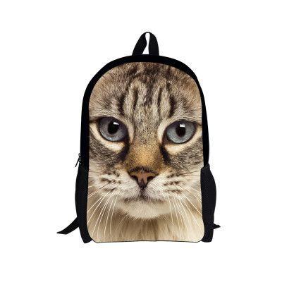 0eaa38395f 16 Inch Children School Bags Fashion Kids Teenagers Boys Schoolbags 3D Zoo Animal  Pet Dog Book Bags for Primary School Mochila