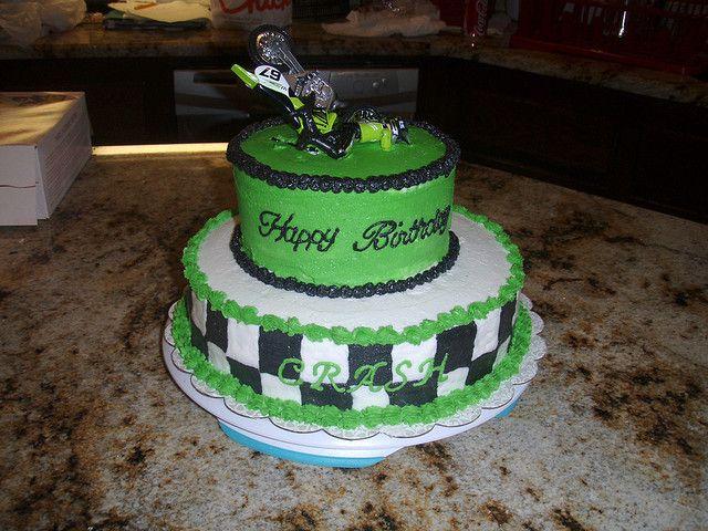 Stupendous Motocross Birthday Cake Dirt Bike Cakes Bike Cakes Supercross Cake Birthday Cards Printable Trancafe Filternl