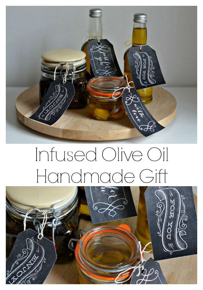 Infused olive oil handmade homemade gift, perfect for Christmas.