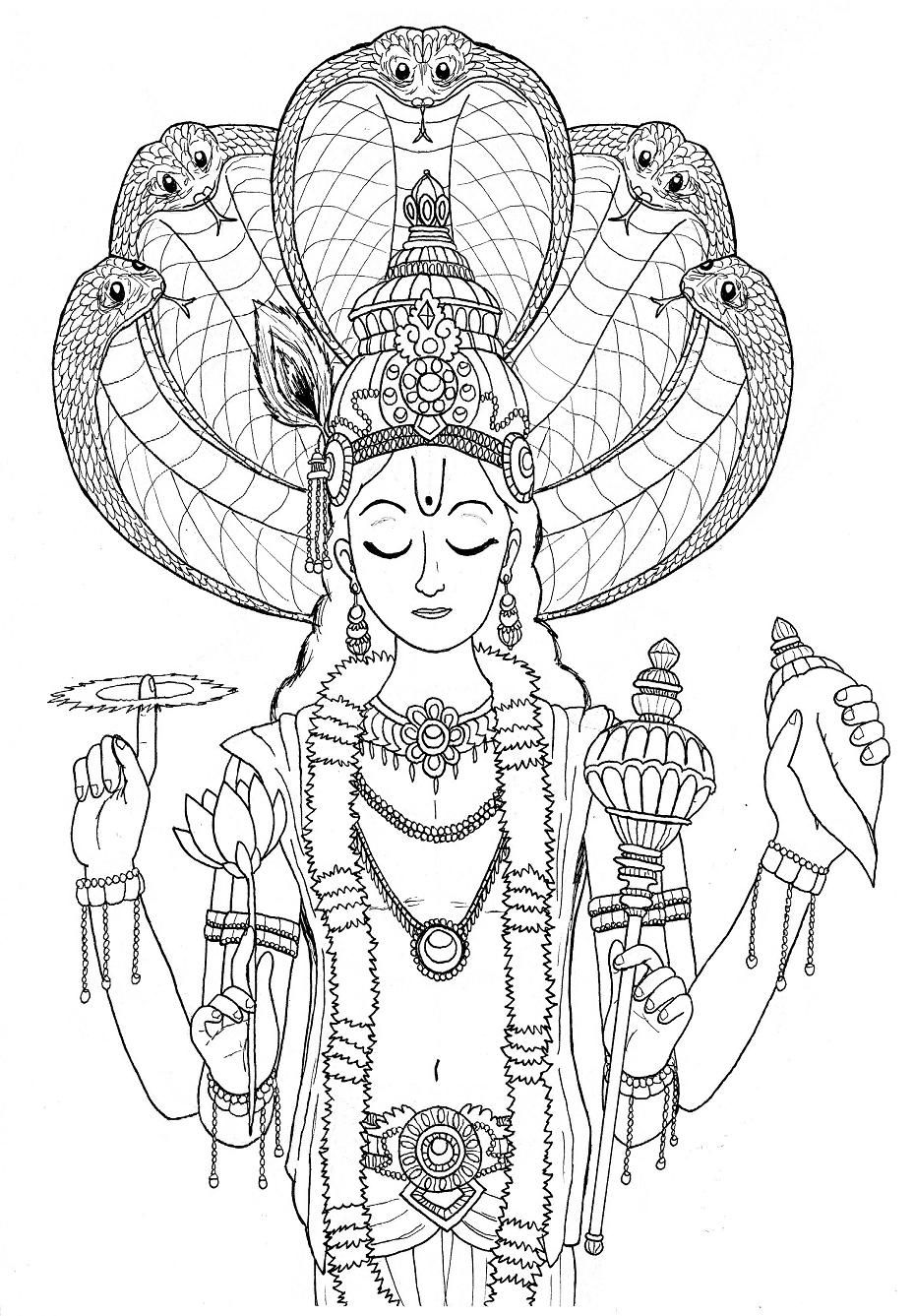 lord brahma coloring pages - photo#25