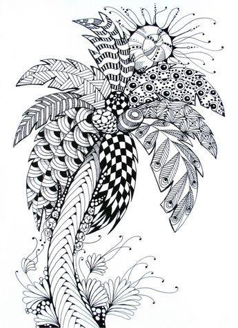 Palm Tree Palm Tree Drawing Tree Tattoo Color Palm Tree Sketch