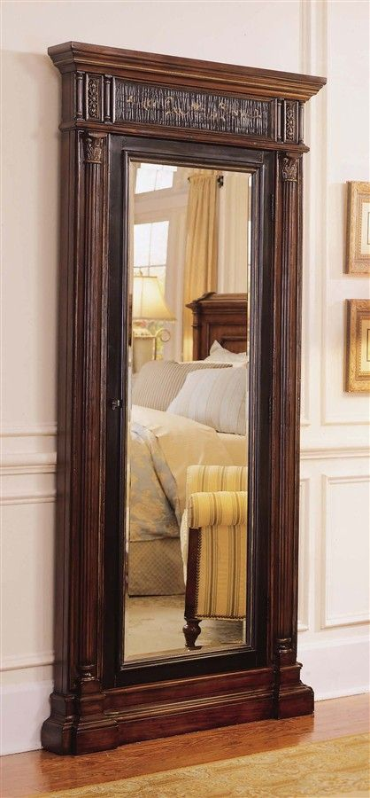 Hooker Furniture   Seven Seas Floor Mirror W Jewelry Armoire Storage
