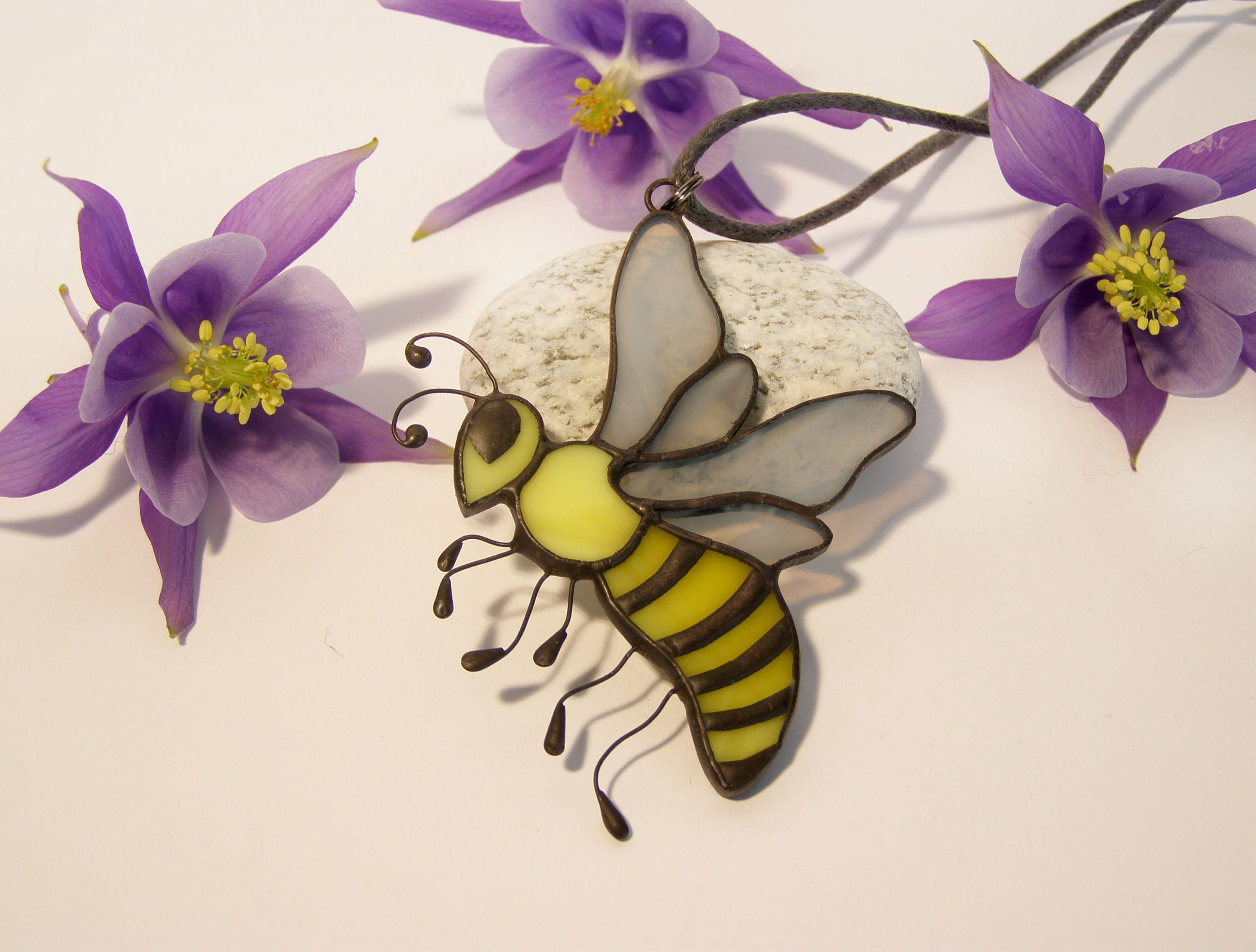 gp a honey bee larger lifestyle pendant bumblebee necklace view image