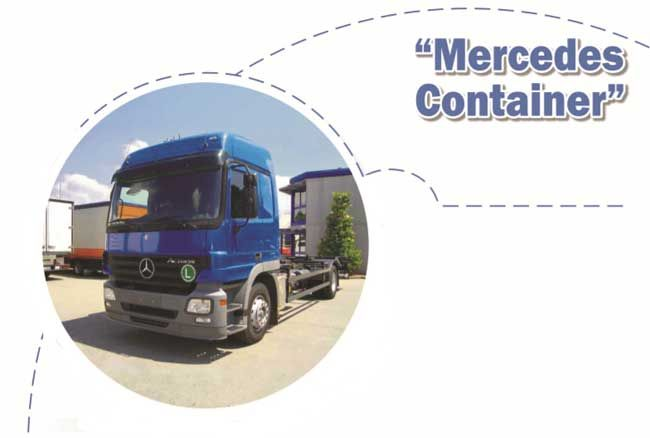 Mercedes-Benz Actros Container Truck Paper Model Free Template