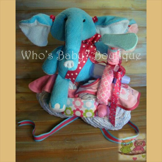 Who's Baby Blue and Pink Elephant Motorcycle by WhosBabyBoutique