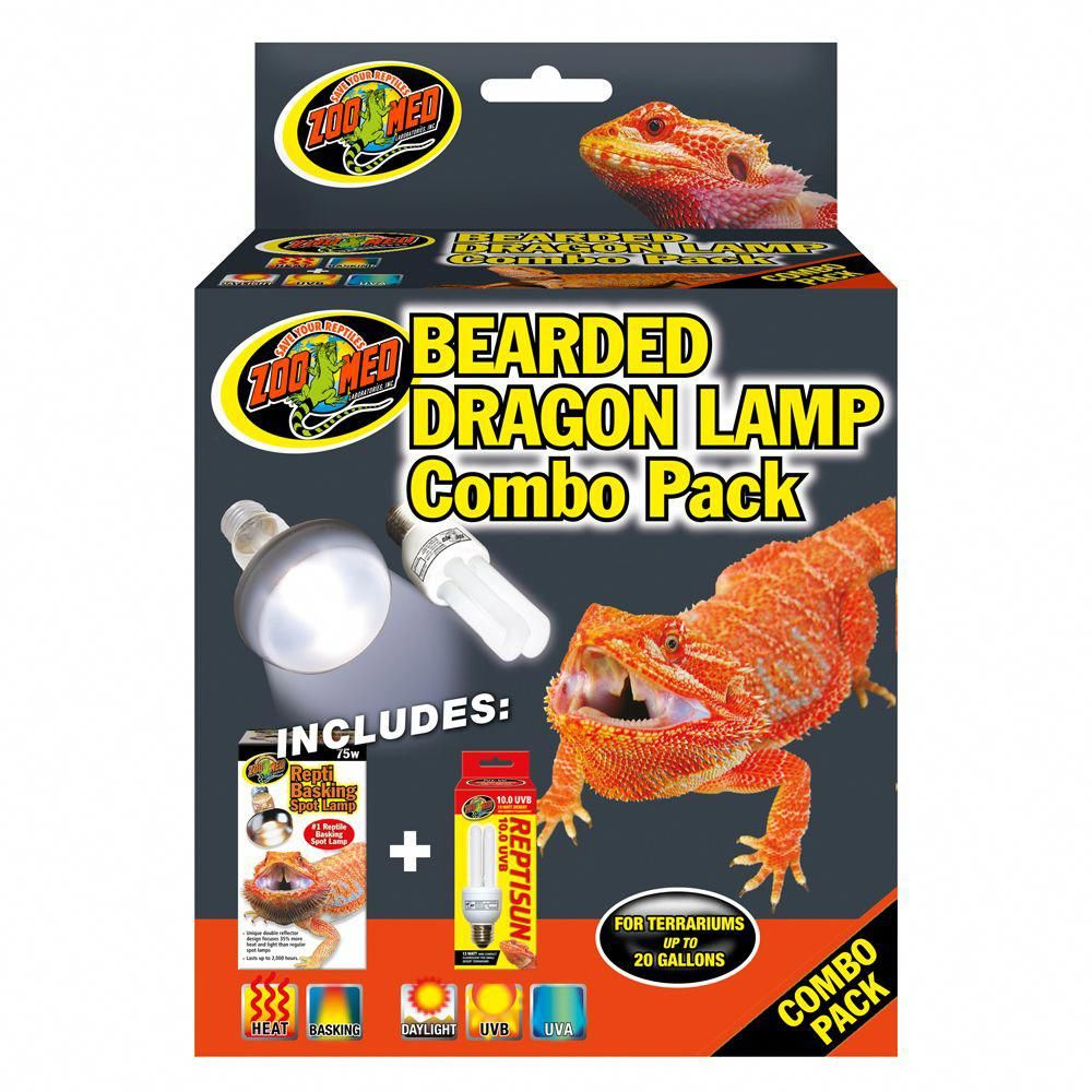 Zoo Med, Bearded Dragon Combo Pack Size: 75W
