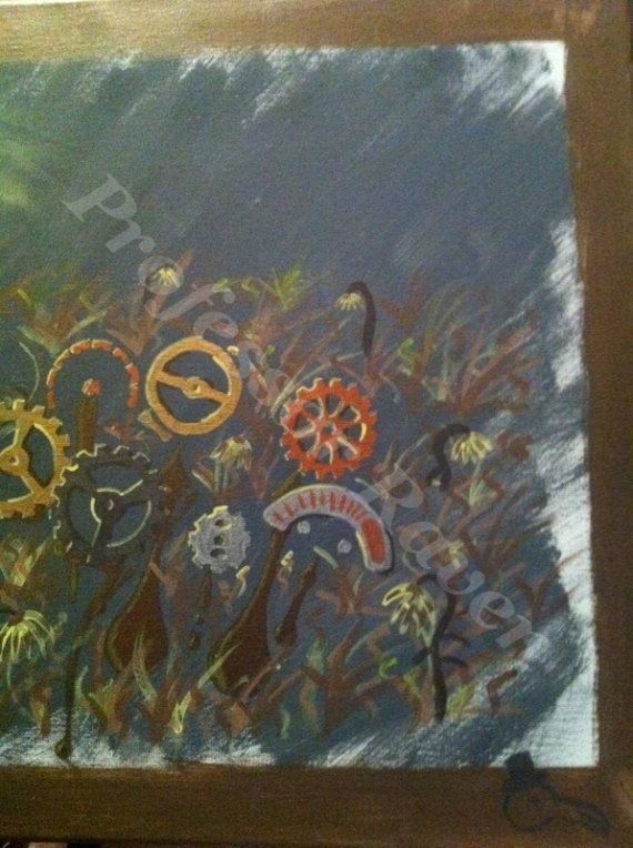 Original Professor Raven painting, 11x17 acrylic on canvas