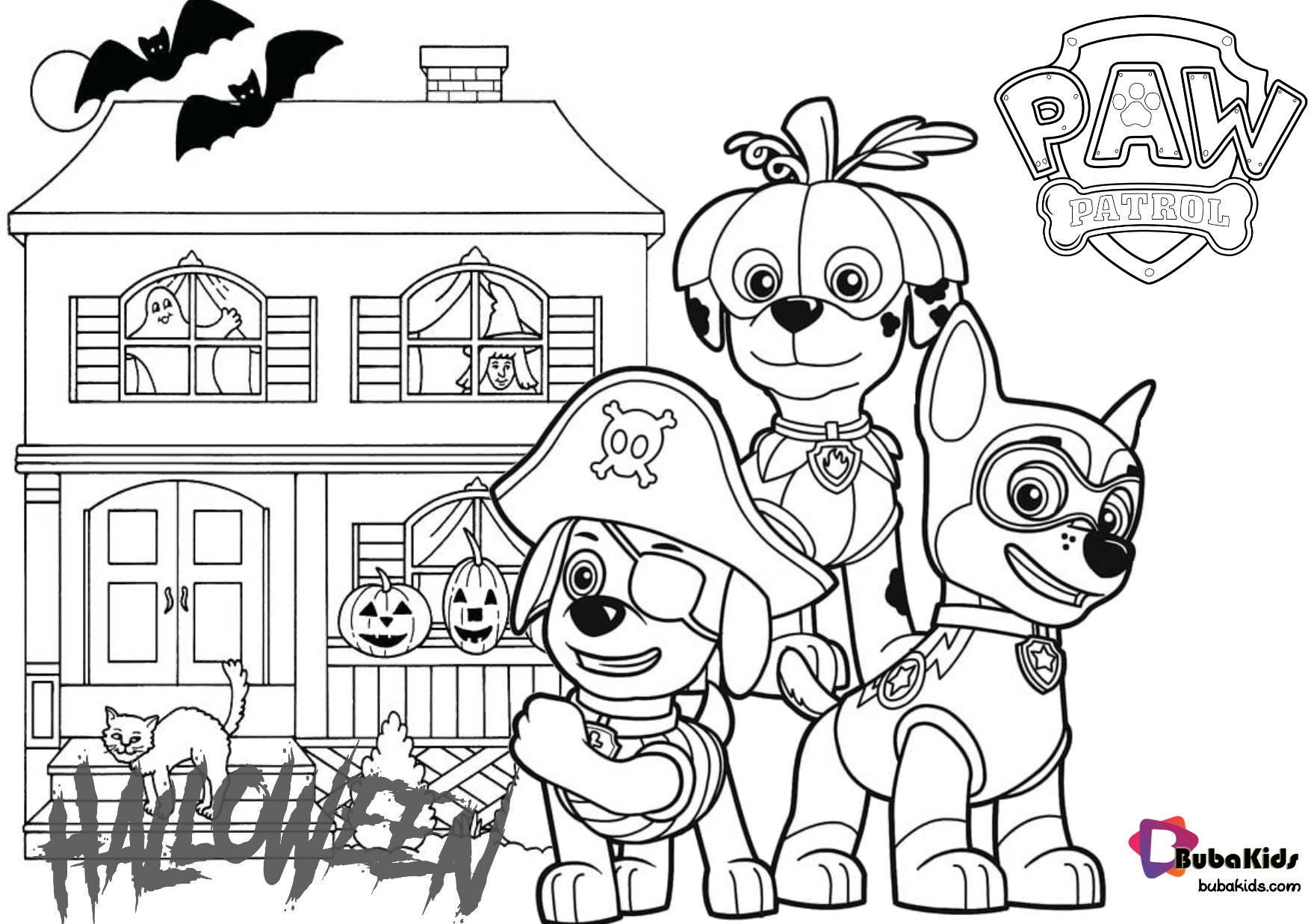 Paw Patrol Halloween Haunted House Coloring Pages Haunted House Paw Patrol Hauntedhouse P Halloween Haunted Houses Cartoon Coloring Pages Halloween Haunt