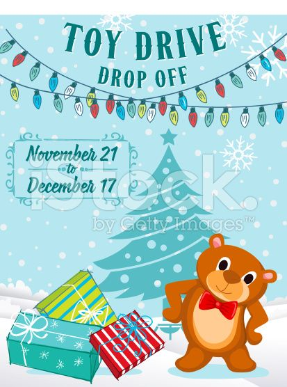 Toy Drive Poster Template Ideal For Any Charity Or