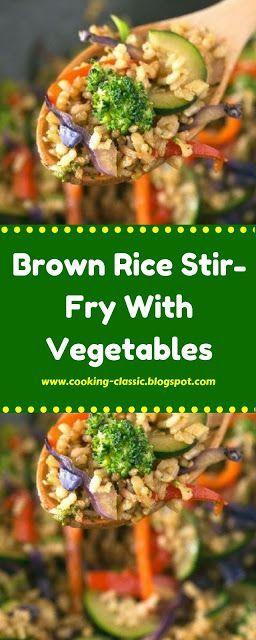 Brown Rice Stir-Fry With Vegetables #vegetablestirfry Brown Rice Stir-Fry With Vegetables #cabbagestirfry