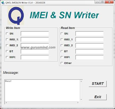 Qualcomm QMSL Special IMEI & SN Writer Tool - GurusMind