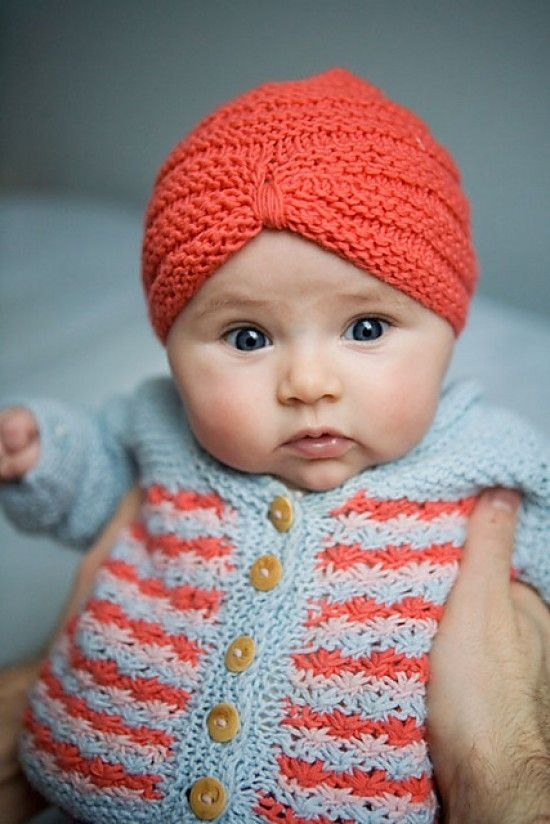 Lunalus Diary: Love This Baby Turban | Knitting, Baby ...